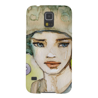 llustration of a beautiful, delicate  girl galaxy s5 cover