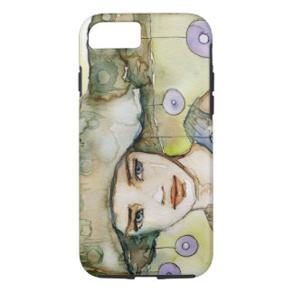 llustration of a beautiful, delicate  girl iPhone 8/7 case