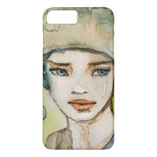 llustration of a beautiful, delicate  girl iPhone 8 plus/7 plus case
