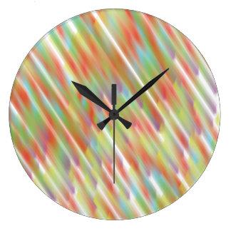 Lluvia abstracta Wallclock Reloj Redondo Grande
