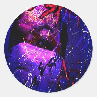 Lluvia ácida de Esham Pegatinas Redondas