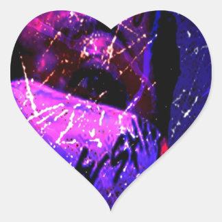 Lluvia ácida de Esham Calcomanía Corazón Personalizadas