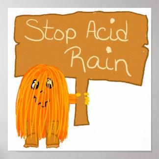 lluvia ácida de la parada anaranjada impresiones