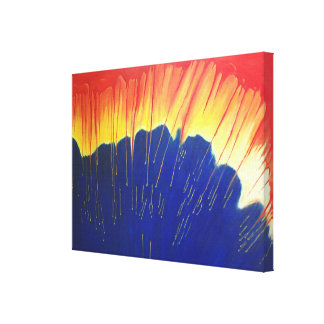 Lluvia ácida impresión de lienzo