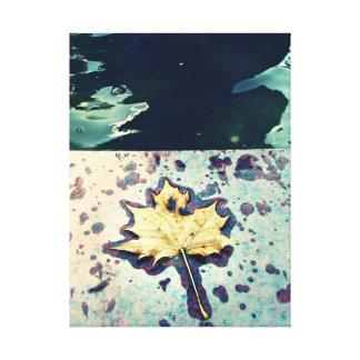 Lluvia amarilla de la caída de la hoja lona envuelta para galerías