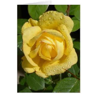 Lluvia amarilla subió tarjeta de felicitación
