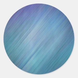 Lluvia azul diagonal pegatina redonda