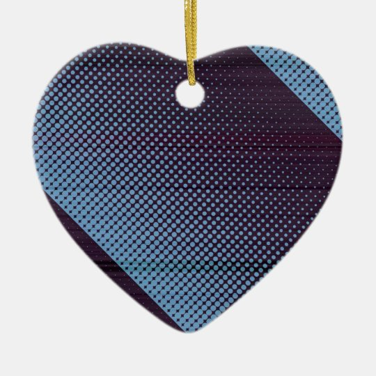 Lluvia azul eléctrica de Digitaces Adorno Navideño De Cerámica En Forma De Corazón