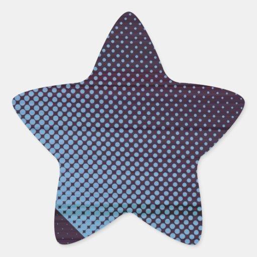 Lluvia azul eléctrica de Digitaces Pegatina En Forma De Estrella
