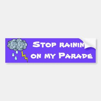 lluvia pegatina de parachoque
