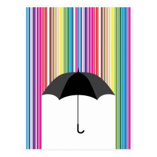 Lluvia coloreada postales