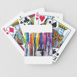 Lluvia colorida barajas de cartas