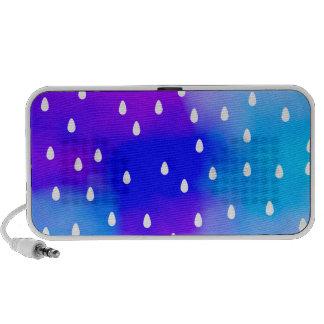 Lluvia con el cielo nublado azul y púrpura iPod altavoces