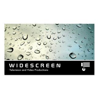Lluvia con pantalla grande 05 en mi ventana tarjeta de negocio