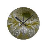 Lluvia cristalina reloj de pared