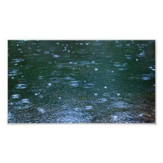 Lluvia de la charca impresiones fotográficas
