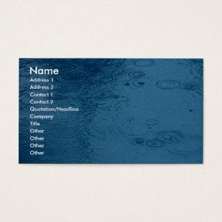 Lluvia de la forma de las ondulaciones en charco tarjeta de negocios
