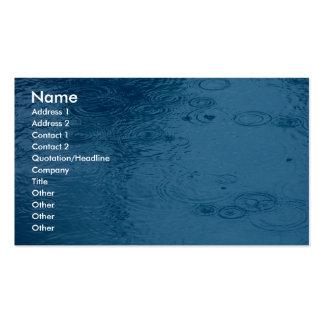 Lluvia de la forma de las ondulaciones en charco tarjetas de visita
