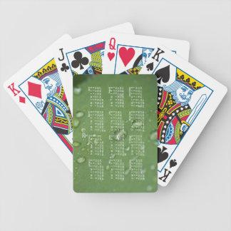 Lluvia de la mañana; Calendario 2013 Baraja Cartas De Poker