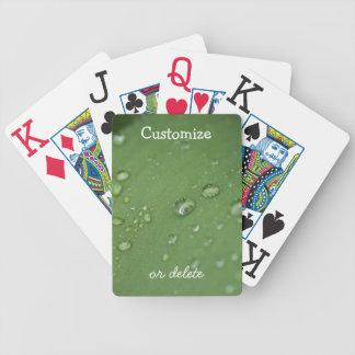 Lluvia de la mañana; Personalizable Cartas De Juego