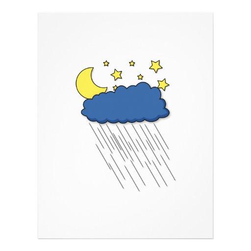 Lluvia de la noche membrete