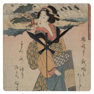 Lluvia de la tarde en el vintage del japonés de Ka Reloj