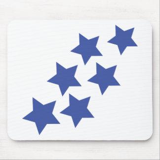 lluvia de las estrellas azules alfombrillas de raton