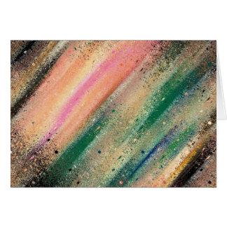 Lluvia de meteoritos tarjeta de felicitación
