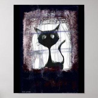 Lluvia de observación del gatito de la ventana. po