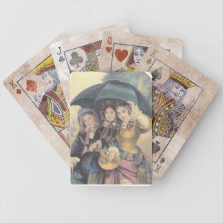 Lluvia de primavera del vintage barajas de cartas