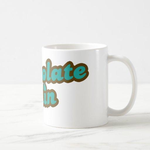 Lluvia del chocolate taza de café