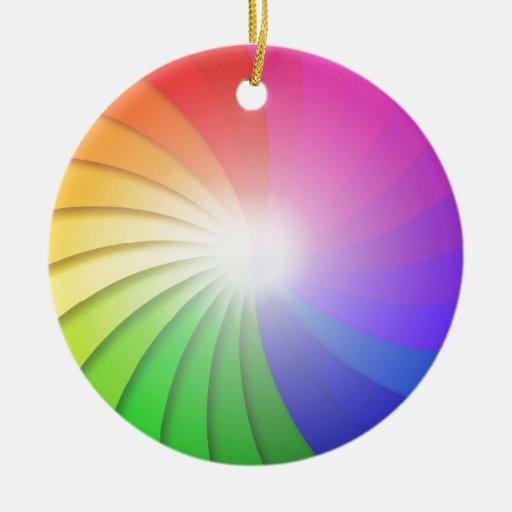 LLUVIA del Colorido-Remolino-Fondo-Vector-Ejemplo Ornaments Para Arbol De Navidad