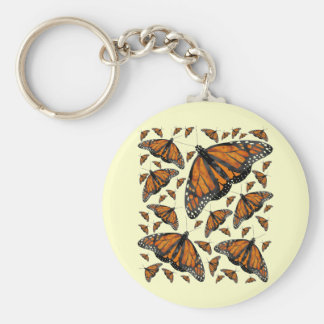 Lluvia del monarca llavero redondo tipo pin
