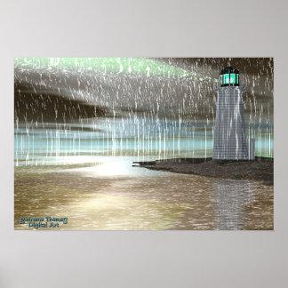 Lluvia del puerto impresiones