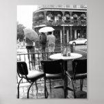Lluvia en el barrio francés de New Orleans Cafe' d Posters