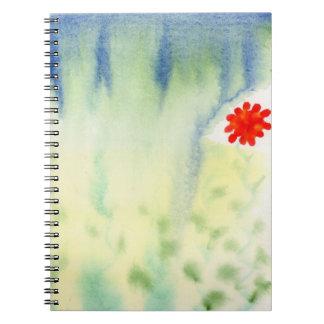 Lluvia en el cuaderno del jardín