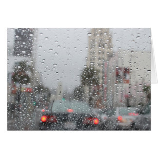 lluvia en LA Tarjeta Pequeña