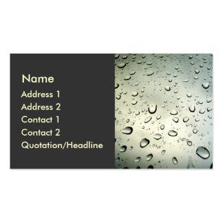 Lluvia en mi ventana tarjetas de visita