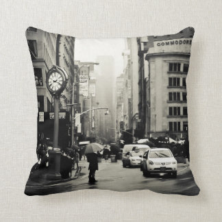 Lluvia en New York City - estilo del vintage Almohada
