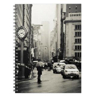 Lluvia en New York City - estilo del vintage Note Book
