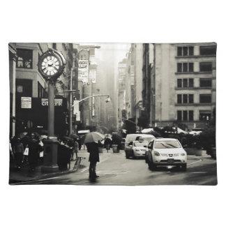 Lluvia en New York City - estilo del vintage Mantel