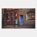 Lluvia - Greenwich Village - New York City Rectangular Altavoces