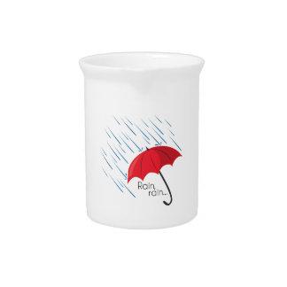 Lluvia, lluvia… jarras para bebida