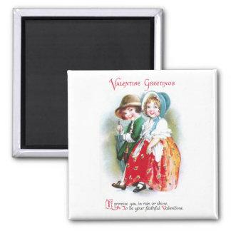 Lluvia o tarjeta del día de San Valentín del brill Imán Cuadrado