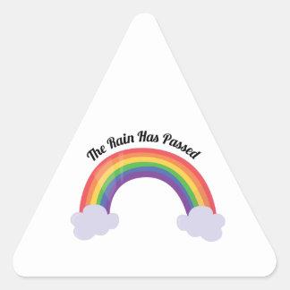 Lluvia pasajera calcomania triangulo personalizadas