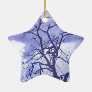 Lluvia púrpura ornaments para arbol de navidad