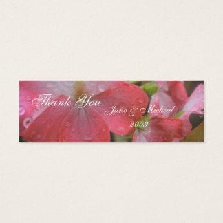 Lluvia rosada tarjeta de visita pequeña