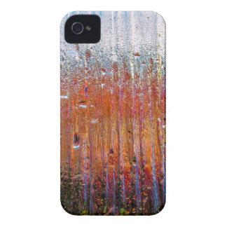 lluvia sobre el vidrio colorido iPhone 4 cobertura