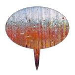 Lluvia sobre el vidrio con colores bonitos figuras para tartas