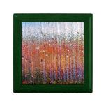 Lluvia sobre el vidrio con colores bonitos caja de regalo